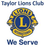 Taylor Lions Club's logo