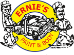 Ernie's Paint and Body Shop's logo
